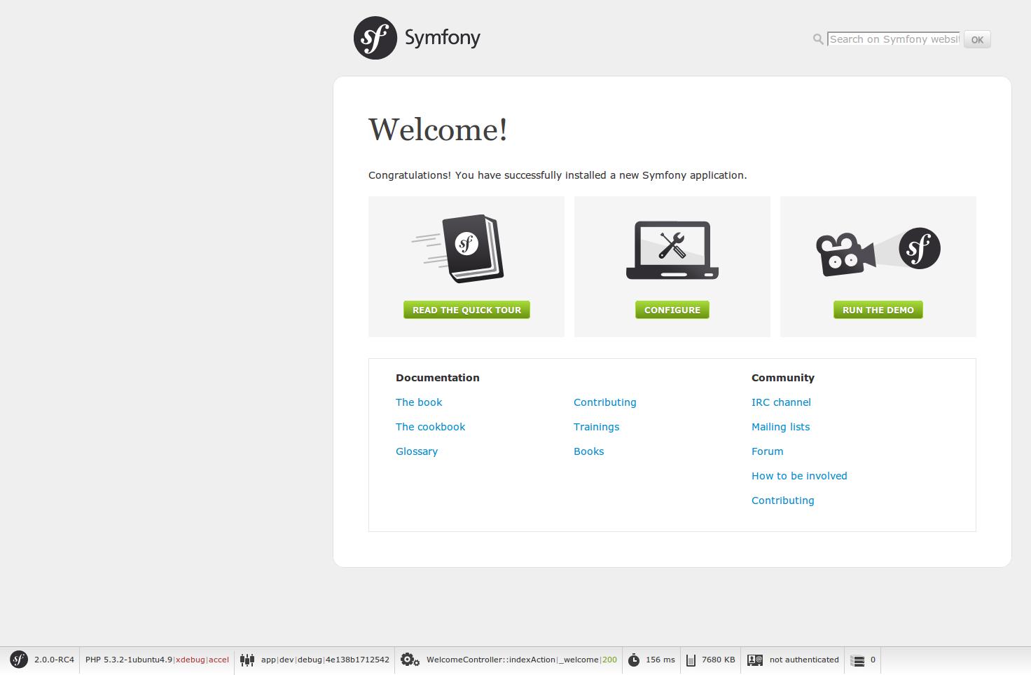Symfony2 home
